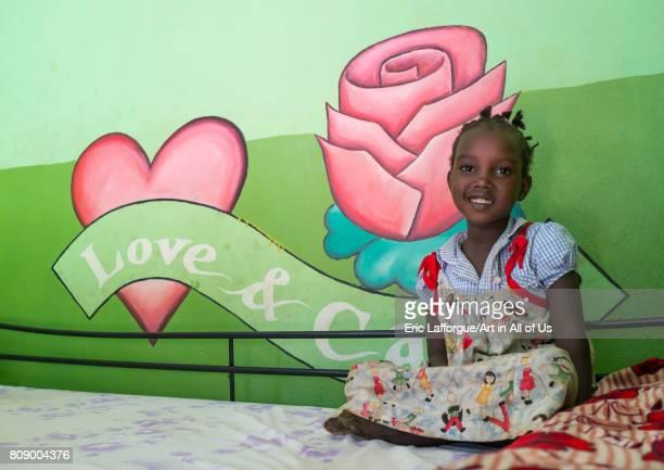 Mingi girl in her bedroom in Omo child foundation Omo valley Jinka Ethiopia on June 10 2017 in Jinka Ethiopia