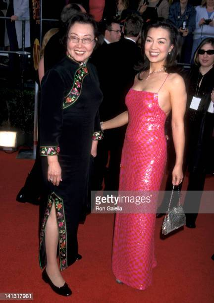 MingNa and mother Lin Chan Wen at the 7th Annual Screen Actors Guild Awards Shrine Exposition Center Los Angeles