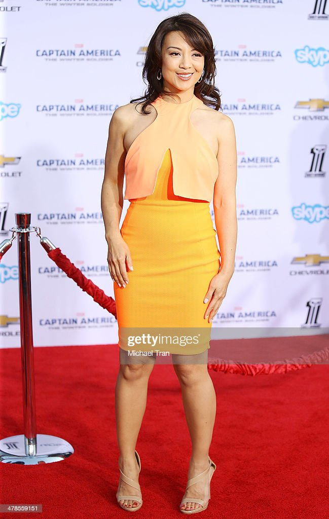 <a gi-track='captionPersonalityLinkClicked' href=/galleries/search?phrase=Ming-Na&family=editorial&specificpeople=630343 ng-click='$event.stopPropagation()'>Ming-Na</a> Wen arrives at the Los Angeles premiere of 'Captain America: The Winter Soldier' held at the El Capitan Theatre on March 13, 2014 in Hollywood, California.