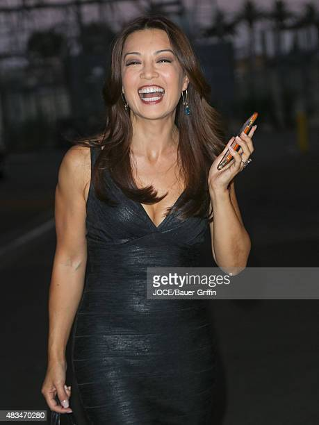 MingNa Wen is seen on August 08 2015 in Los Angeles California
