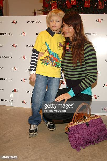 Mingus Luchien Reedus and Helena Christensen attend RxArt Coloring Book Launch at DKNY at DKNY on December 11 2005 in New York City