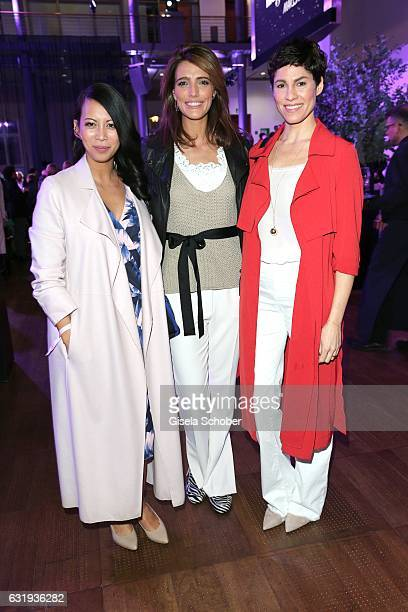 Minh Khai Phan Thi Marvy Rieder and Jasmin Gerat during the Marc Cain fashion show fall/winter 2017 'Ballet magnifique' at 'Telekom Representation'...