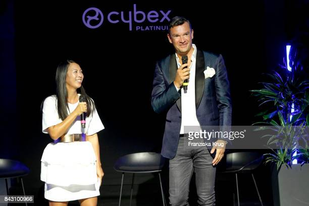 MinhKhai PhanThi and Martin Pos during the Cybex Fashion Cocktail on September 5 2017 in Berlin Germany