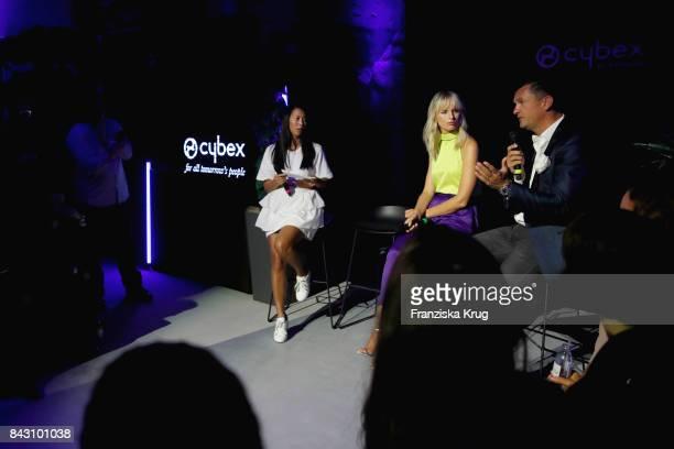 MinhKhai PhanThi supermodel and actress Karolina Kurkova and Martin Pos during the Cybex Fashion Cocktail on September 5 2017 in Berlin Germany