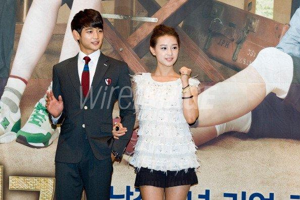 Minho of South Korean boy band SHINee and actress Kim Ji Won attend