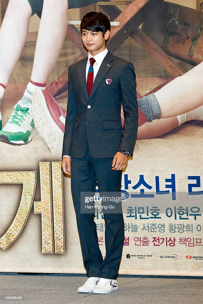 Minho of South Korean boy band SHINee attends during a press conference to promote the SBS drama 'For You In Full Blossom' on August 13, 2012 in Seoul, South Korea. The drama will open on August 15 in South Korea.