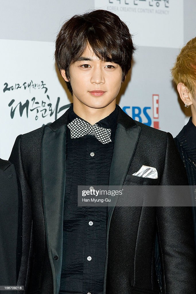 Minho of South Korean boy band SHINee attends during the 2012 Korea Popular Culture Art Awards at Olympic Hall on November 19, 2012 in Seoul, South Korea.
