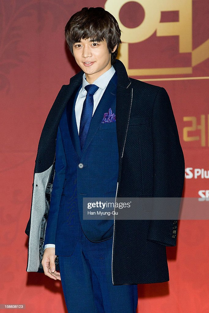 Minho of South Korean boy band SHINee attends during the 2012 SBS Drama Awards at SBS Prism Tower on December 31, 2012 in Seoul, South Korea.