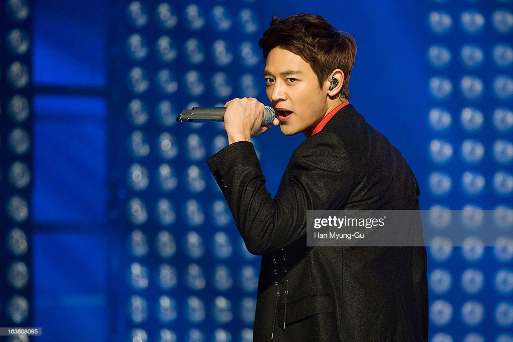 Minho of South Korean boy band SHINee performs onstage during the MBC Music 'Show Champion' at Uniqlo-AX Hall on March 13, 2013 in Seoul, South Korea.