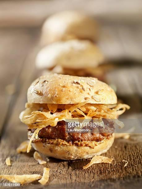 Mini Burgers with Crispy Onions