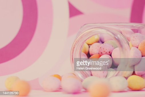 Mini chocolate Easter eggs : Stock Photo