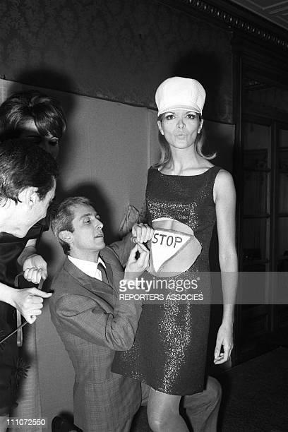 Mini dress fashion In France On November 12 1965 ready to wear