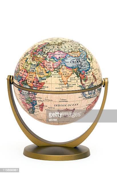 Mini Globe on stand Indian Ocean