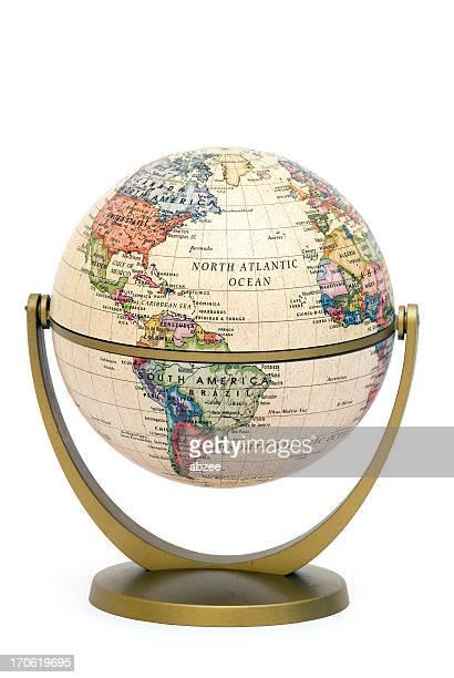 Mini Globe on stand South America