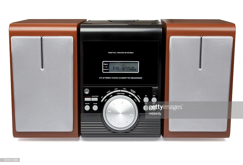 CD MP3 mini Hi-Fi system (isolated)