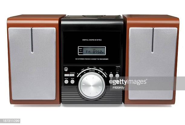 CD MP3 mini Hi-Fi system (isolated)