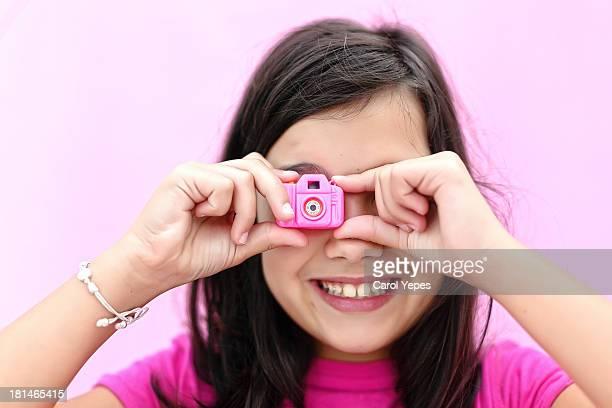 mini pink camera