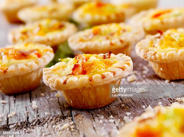Mini Quiche with Bacon and Cheddar Cheese