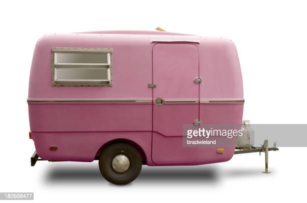 Mini RV Pink Trailer