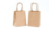 Mini Shopping Bags isolated on white