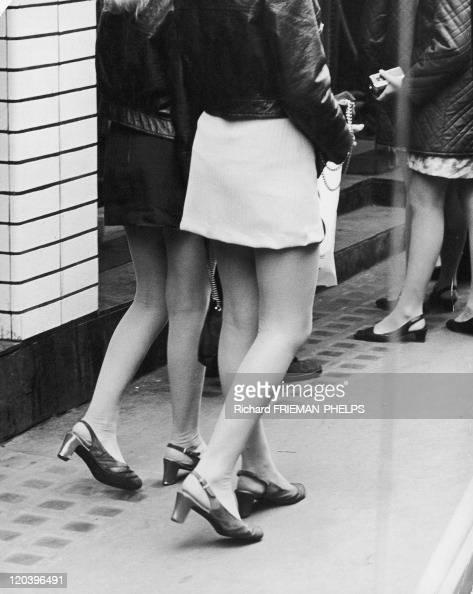 Mini Skirt In London United Kingdom The mini skirts on Carnaby Street