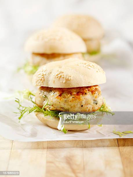 Mini Turkey Burgers with Arugula