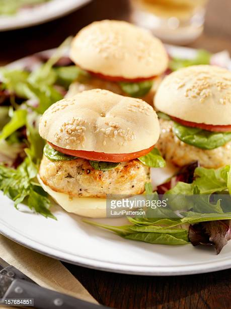 Mini Turkey Burgers with Spinach and Tomato