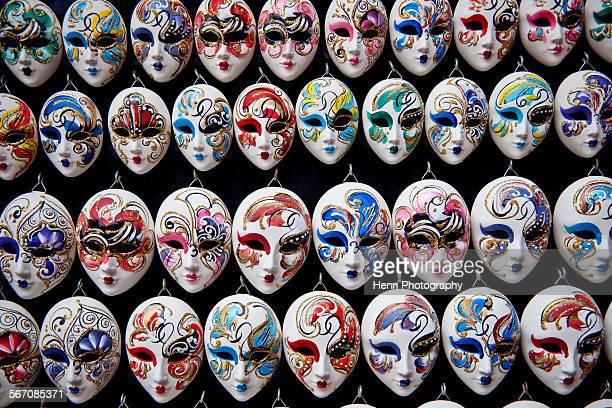 Miniature carnival masks in Venice