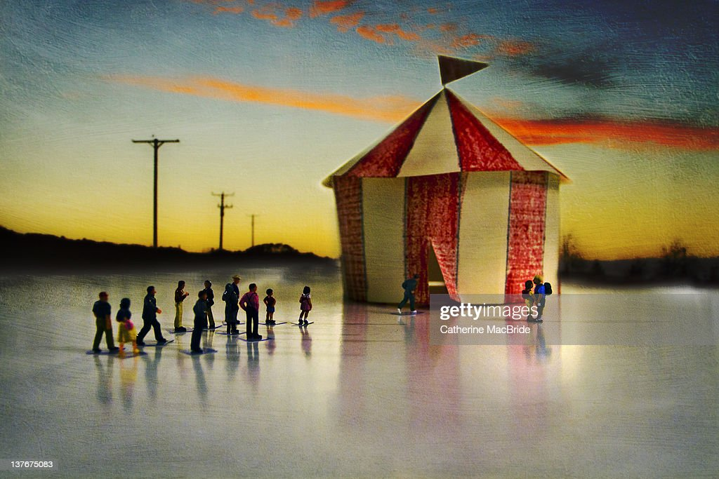 Miniature circus : Stock Photo