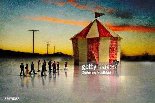 Miniature circus : Foto stock