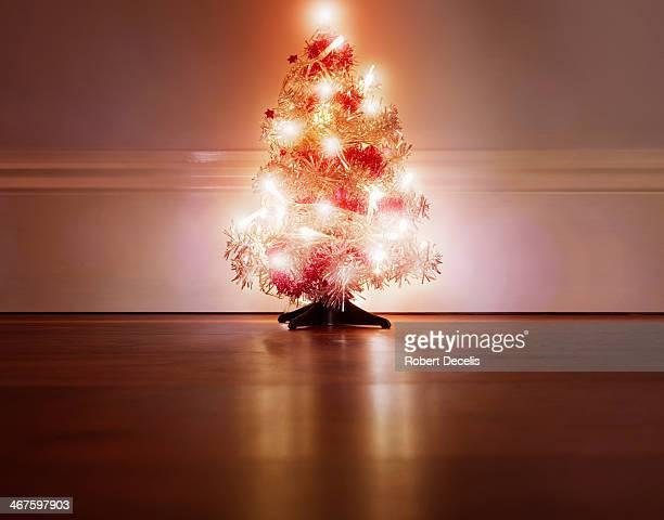 Miniature, decorated Christmas Tree