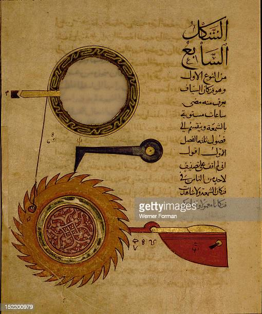 Miniature from a Mamluk copy of the Automata of al Jaziri or the Book of Knowledge of Mechanical Devices The mechanical devices depicted and...