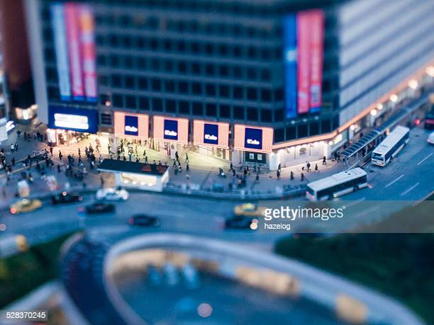 Miniature Landscapes of department store at night