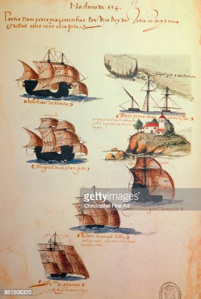 Miniature Memories of Portuguese Armadas under King Manuel I 1500 Lisbonne Musee National D Art Antique