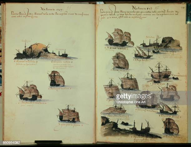 Miniature Memories of Portuguese Armadas under King Manuel I Paris Bibliotheque Nationale