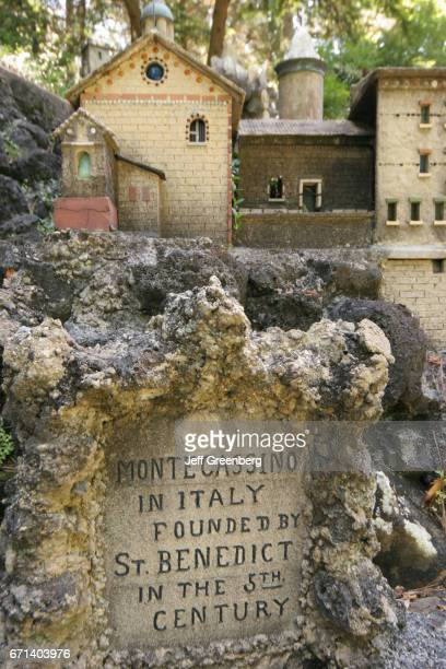 A miniature of Monte Casino Benedictine Abbey at Ave Marie Grotto