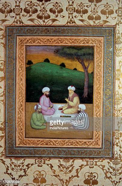 Miniature painting of Sufis National Museum New Delhi India