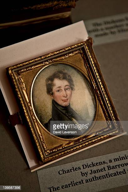 A miniature portrait of Dickens painted by Janet Barrow in 1830 The earliest authenticated portrait of Dickens at the Charles Dickens Museum on...