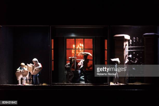 A miniature scene from the theatrical show 'Flight' during a photocall for the annual Edinburgh International Festival on August 4 2017 in Edinburgh...