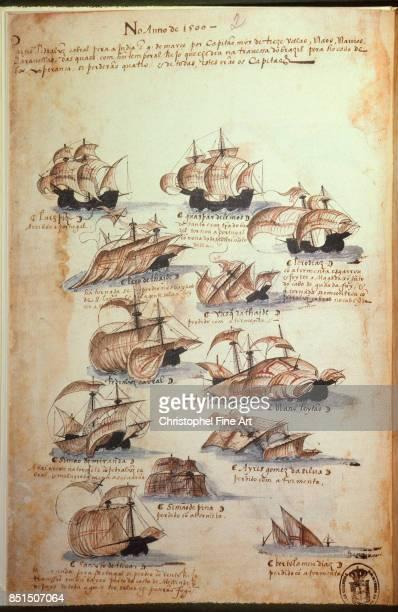 Miniature The Portuguese Armadas Under King Manuel I 1497 Lisbonne Musee National D Art Antique