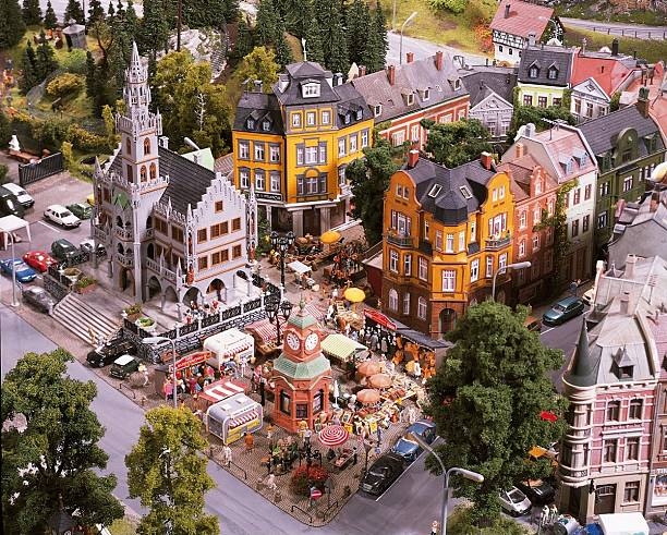 miniatur wunderland hamburg eisenbahn modelleisen pictures getty images. Black Bedroom Furniture Sets. Home Design Ideas