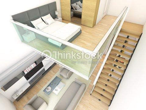 Minimalist duplex two storey house interior design stock Double storey house interior design