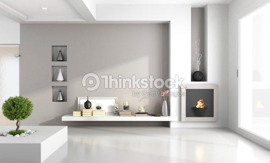 Minimalista soggiorno con caminetto foto stock thinkstock for Soggiorno minimalista