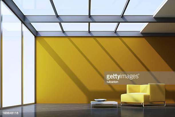 Minimalistische Lounge Zimmer
