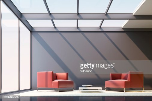 Minimalist lounge room stock photo getty images for Minimalist lounge