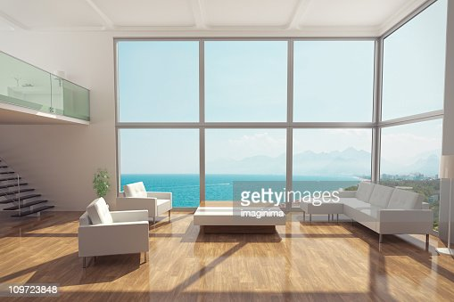 Minimalist Luxury Apartment Interior : Stock Photo