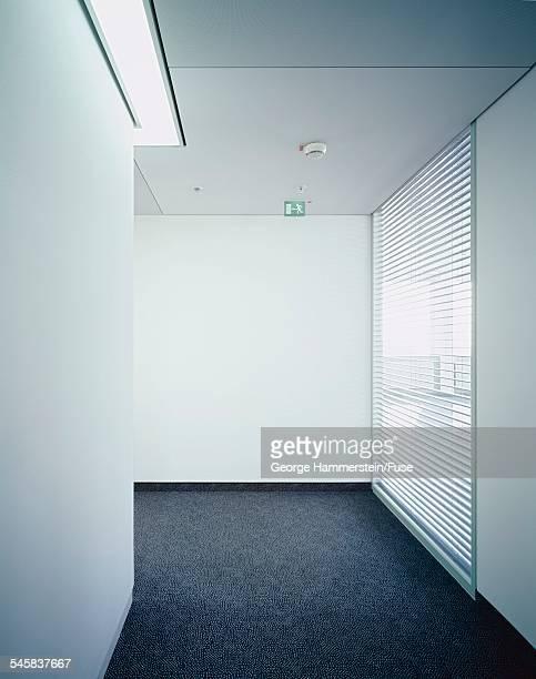 Minimalist office hallway