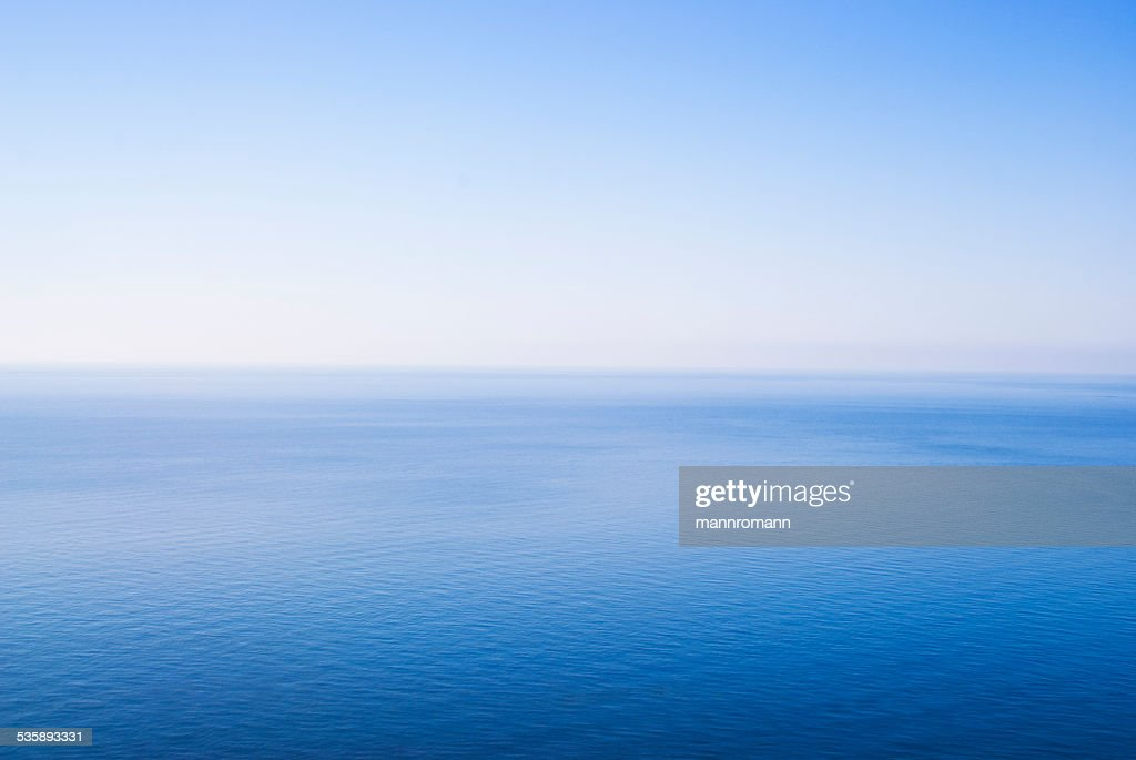 Minimalistic photo of sky and sea : Stock Photo