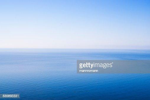 Minimalistic photo of sky and sea : Stock Photo