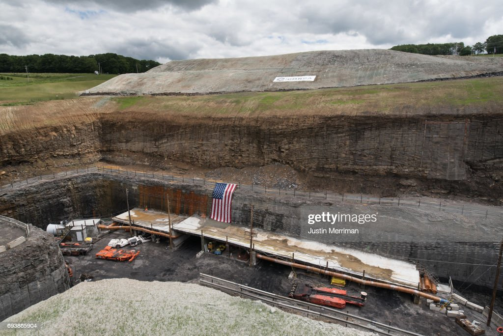 Mining operations are underway at Corsa Coal's Acosta Deep Mine on June 8, 2017 in Friedens, Pennsylvania. The mine, which celebrated its grand opening Thursday, is expected to create more than 70 new jobs and should produce 400,000 tons of metallurgical coal a year. Coal mining operations began on Wednesday.